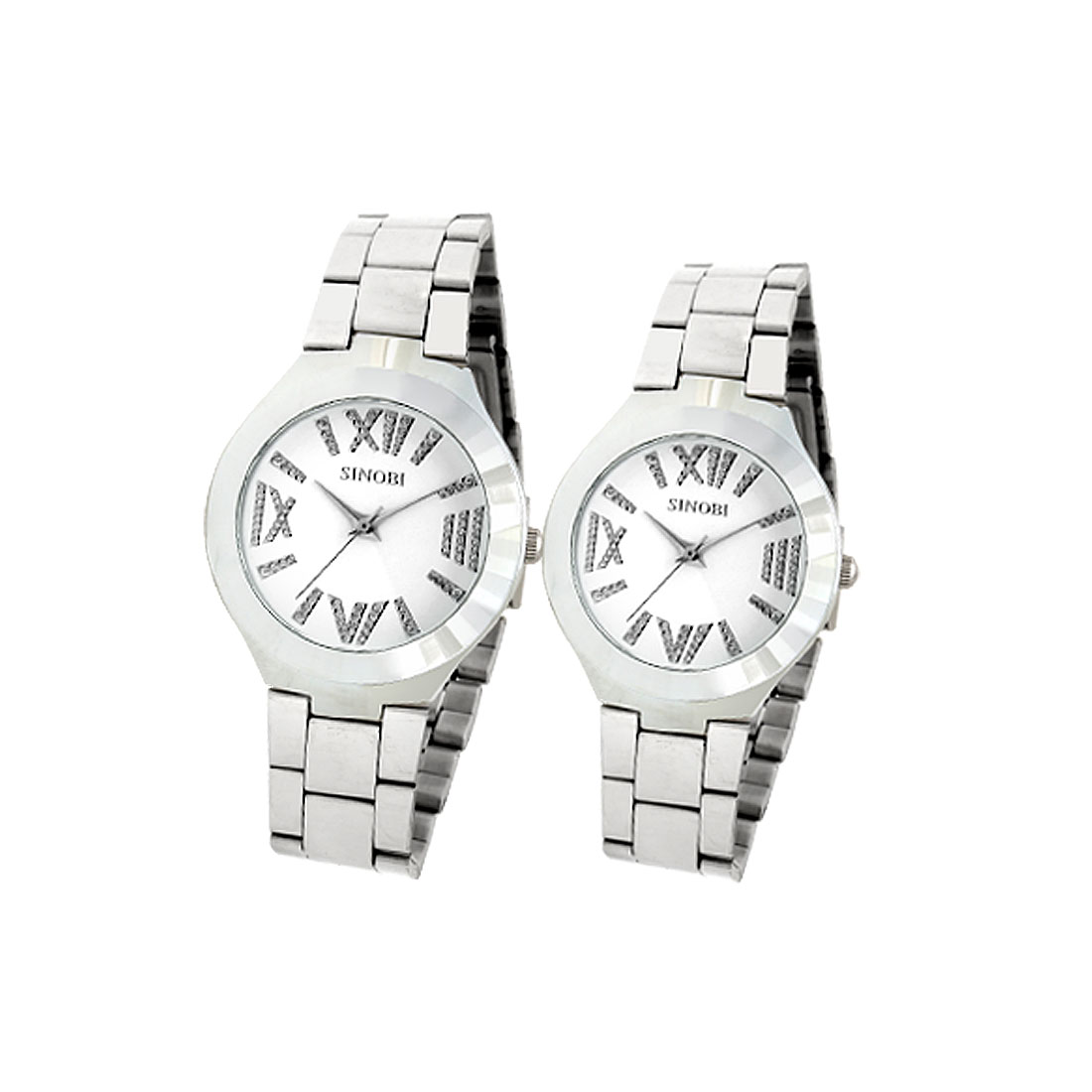 Pair of Collectors and Lovers Metal Band Quartz Wrist Watches