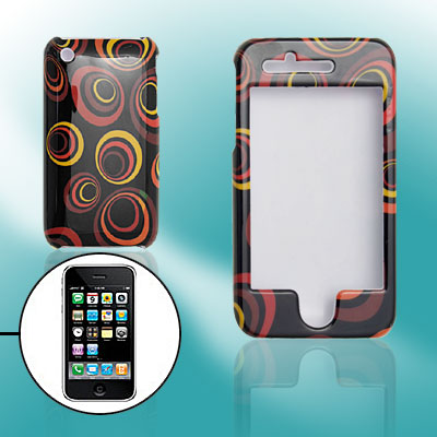 Black Hard Plastic Case with Round Pattern Design for Apple iPhone 3G / 3GS