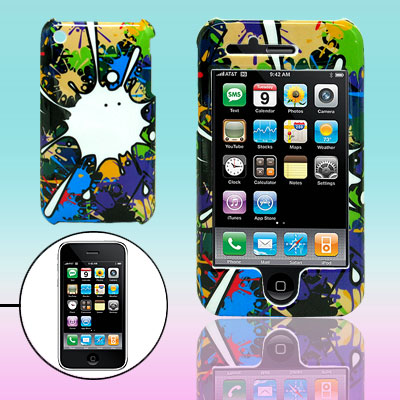 Hard Plastic Protective Case with Doodle Design for Apple iPhone 3G / 3GS