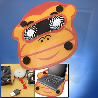 Cartoon USB 2 Fan Quiet Cooling Pad for Laptop