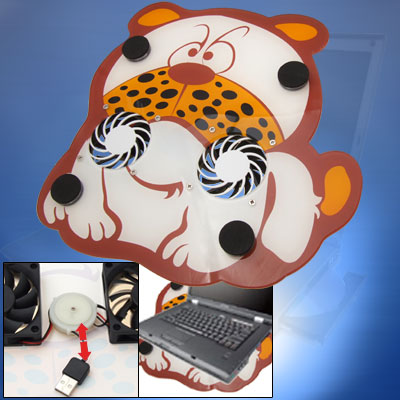 Notebook Tiger Cooler USB Power Laptop Cooling Pad Fan