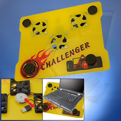 Challenger USB 3 Fan Laptop Notebook Cooling Pad