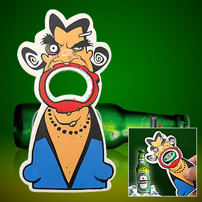Multicolor Awful Cartoon Devil Beer Beverage Bottle Opener for Alcoholic