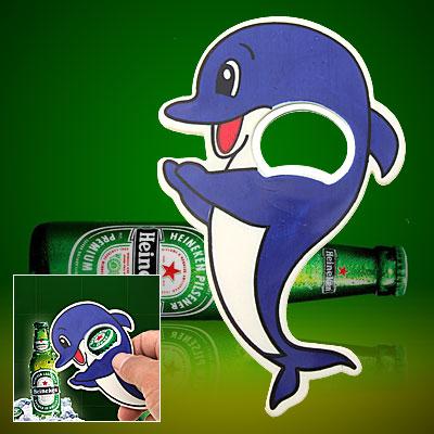 Small Cute Blue Dolphin Bottle Opener