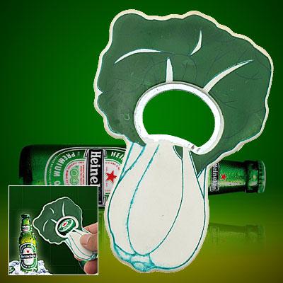 Small Green Cabbage Metal Bottle Cap Bottle Opener