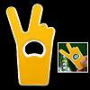 Easy Carrying Victory Gesture Beer Bottle Opener - Yellow