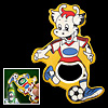 Lovely Playing Football Cartoon Cattle Bottle Opener Yellow