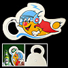 Cartoon Bottle Beer Refreshing Cola Bottle Opener mini