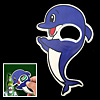 Small Cute Clapping Blue Dolphin Bottle Cola Opener