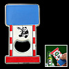 Small Rectangle Panda Pattern Colorful Bottle Opener