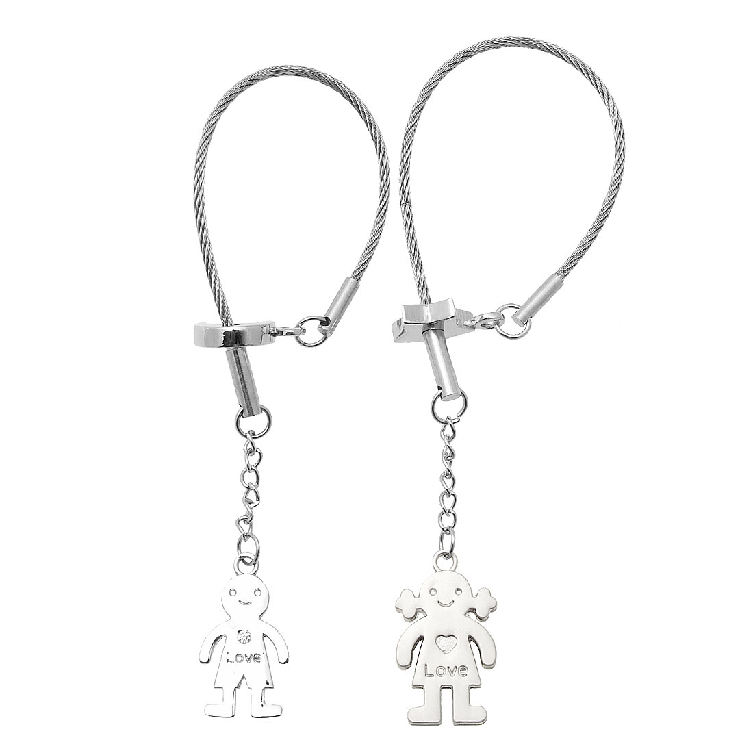 Novelty Metal Lover Pair Keychain Key Ring Keychain Charms