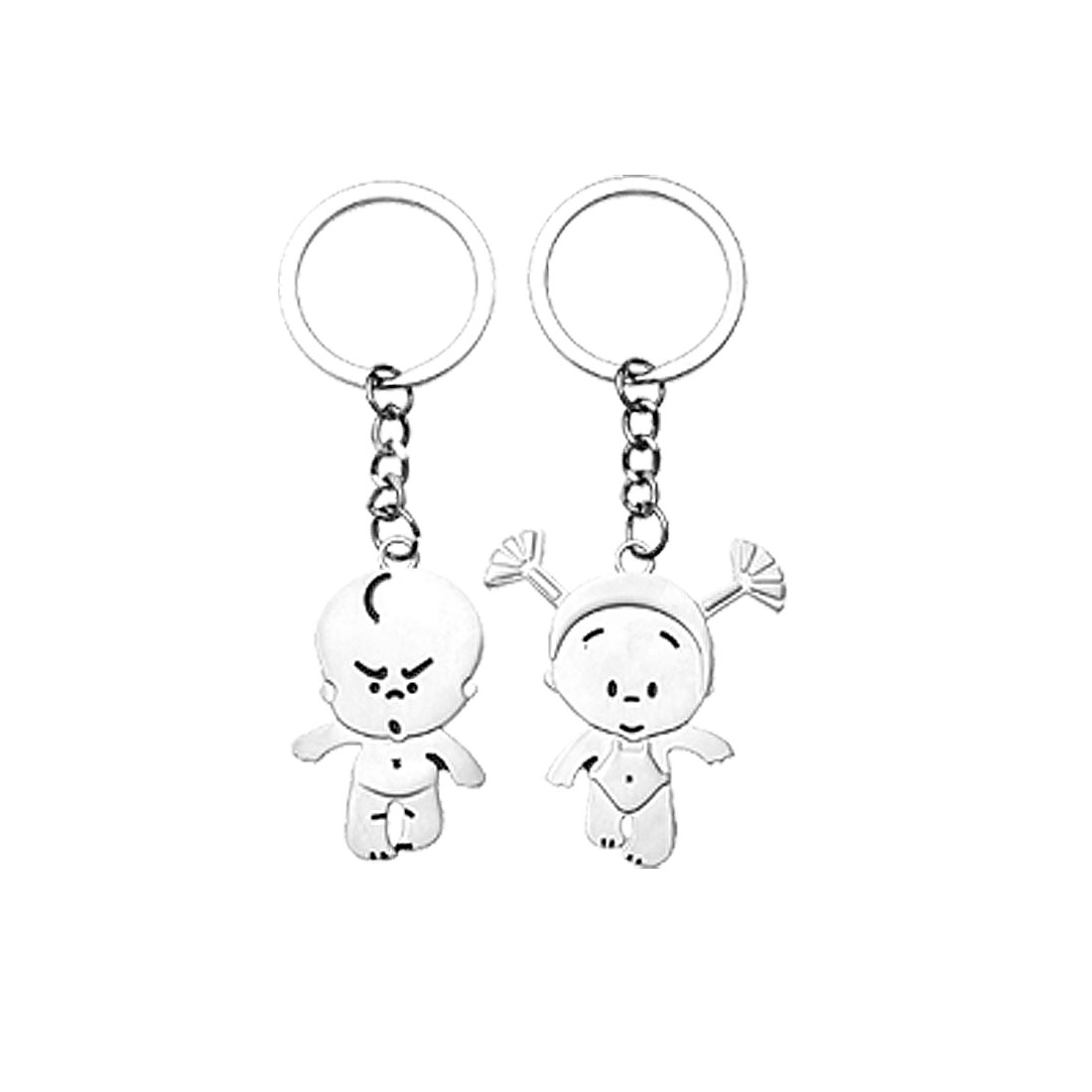 Lovely Girl and Boy Pendant Pair Key Chain Keychain Keyring for Lovers