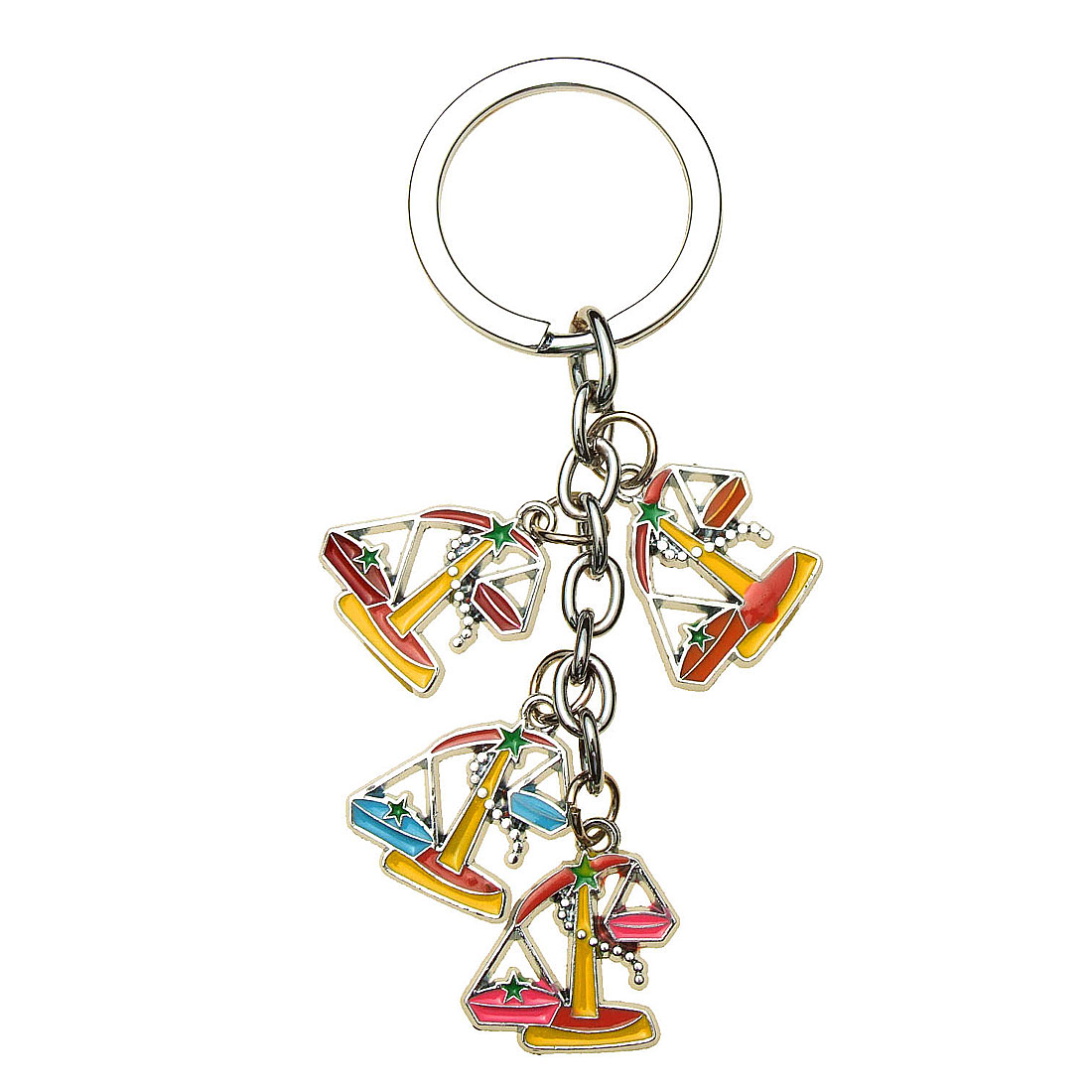 Four Interesting Balance Scale Pendant Key Chain Key Ring