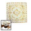 Gold-tone Embroidered Doily Runner Cover Tablecloth