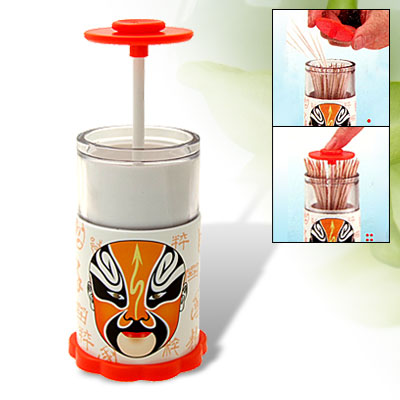 Household Interesting Automatic Toothpick Holder Orange