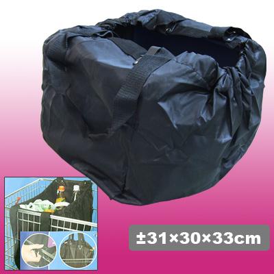 Black Reusable Grocery Shopping Cart Tote Bag
