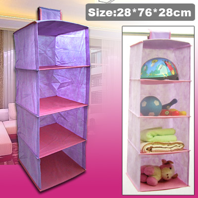 4 Shelves Sweater Clothing Hanging Storage Closet Organizer