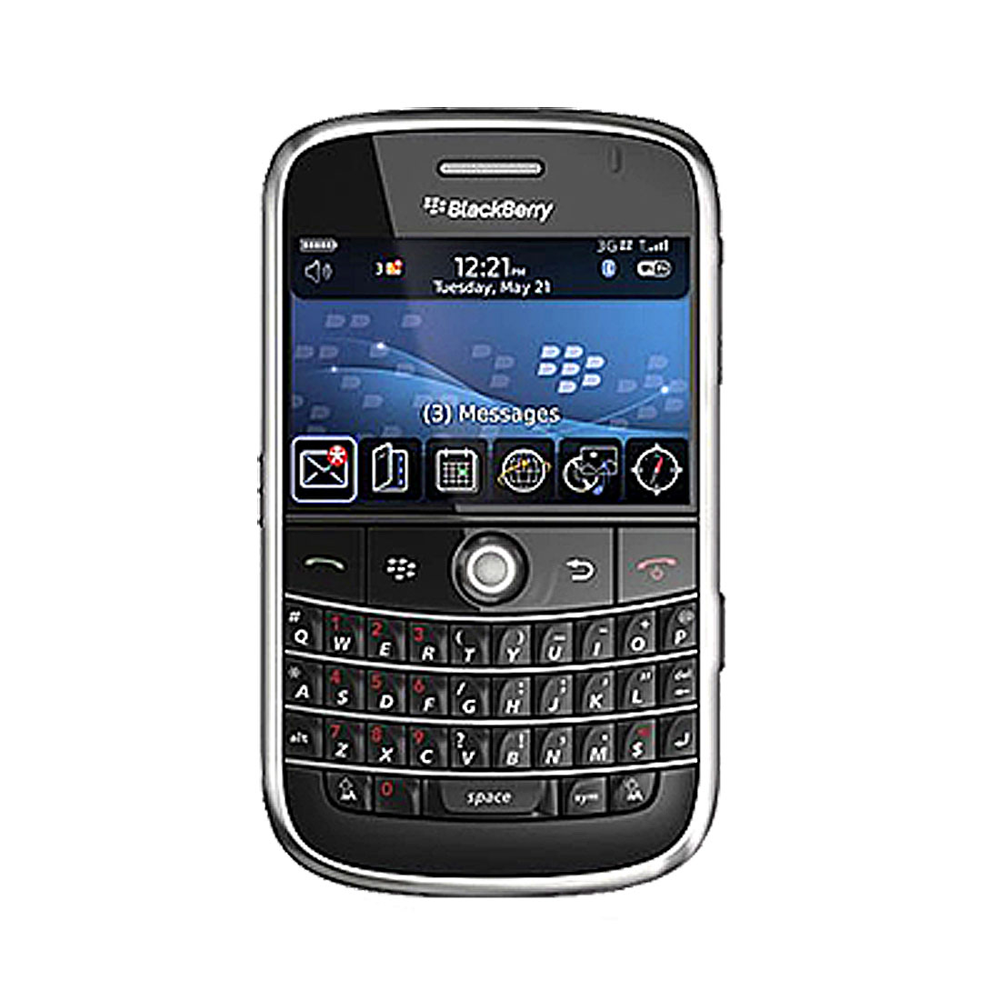 Clear White Anti-Slip Silicone Case for Blackberry 9000