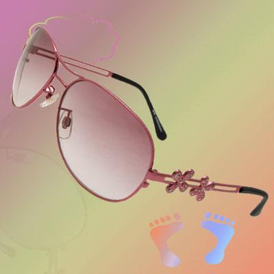 Adjustable Nose Bridge Big Lens Ladies' Sunglasses Eyewear