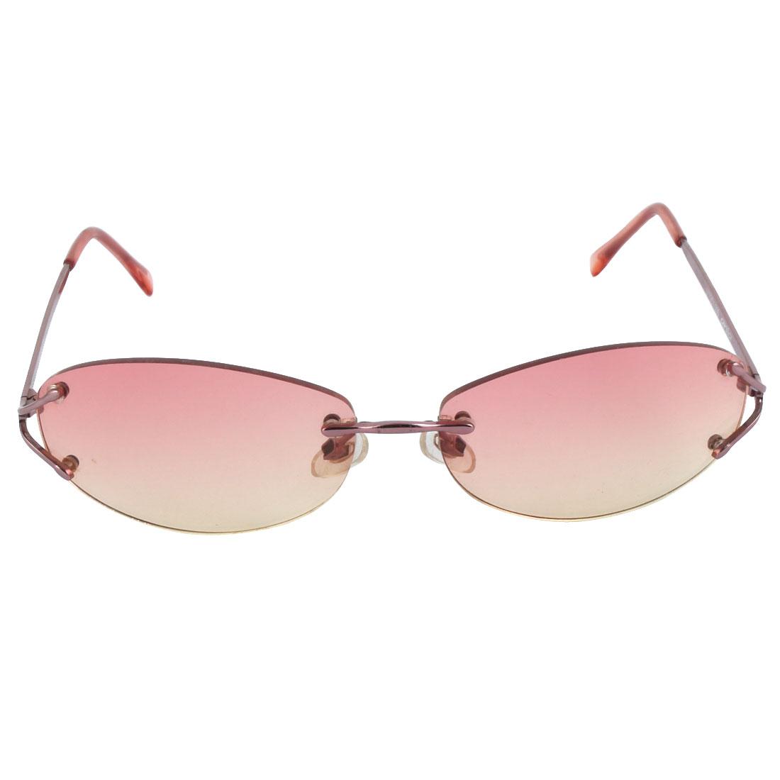 Fashion Oval Lens Slim Metal Frame Lady's Shopping Sunglasses