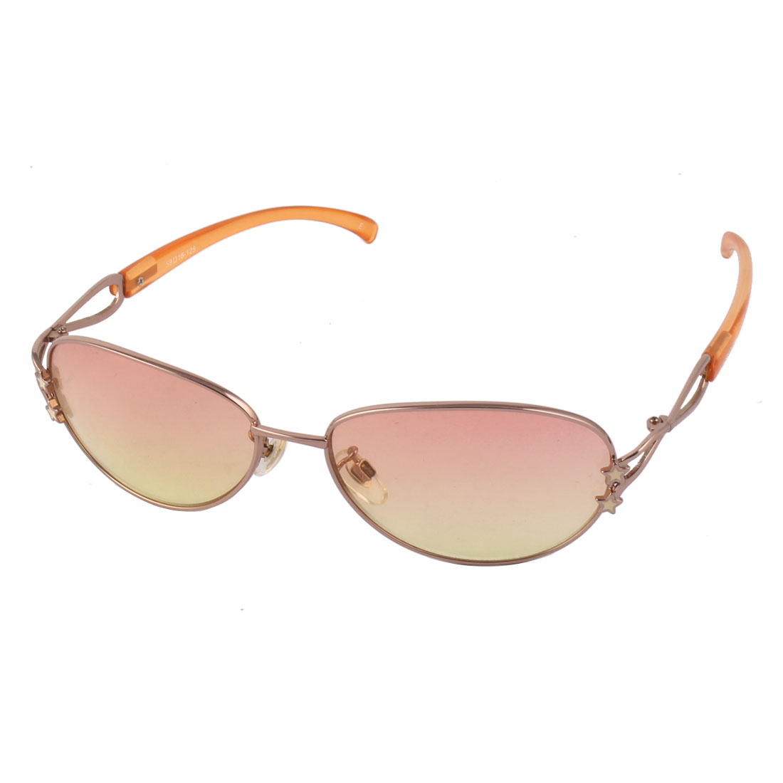 Silvery Stars Metal Frame Light Pink Ladies' Eyewear Sunglasses