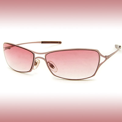 Fashion Slim Metal Arms Pink Lady's Eyewear Sunglasses Spectacles