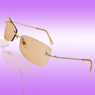 Protective Silvery Metal Arms Tea Color Lens Eyewear Sunglasses