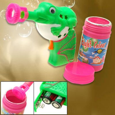 Big Cute Tripe Frog Soap Bubble Gun hubble-bubble Toy for Kids