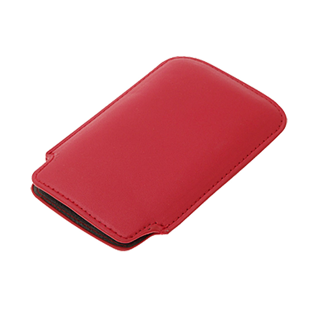 Red Portable Slim Leather Sleeve Case for Apple iPhone 3G / 3GS