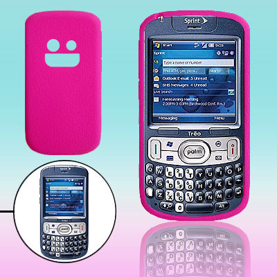 Hot Pink Silicone Mobile Phone Case for Palm Treo 800W