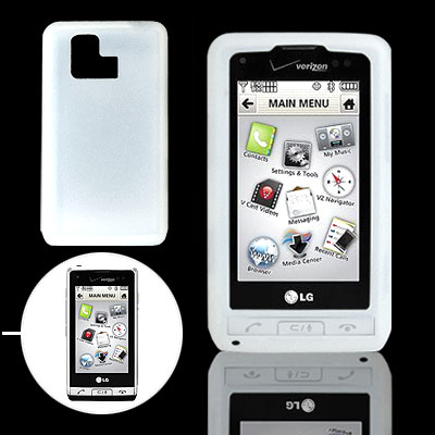 Clear White Silicone Case for LG VX9700