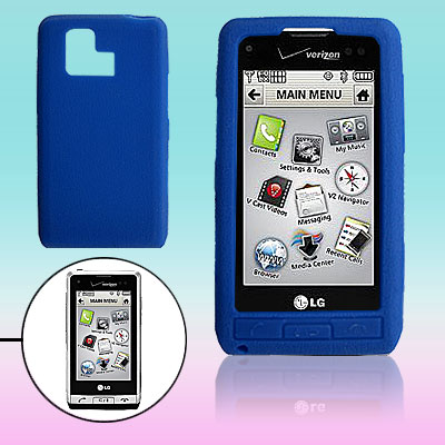 Blue Silicone Case for LG VX9700