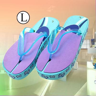 Butterfly Pattern Sole Anti-Slip Flip Flop Foam Slippers for Lady