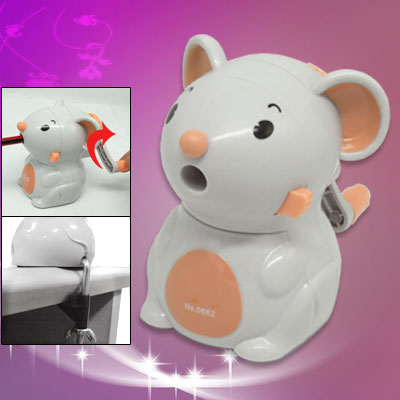 Lovely Cartoon Mouse Portable Manual Pencil Sharpener