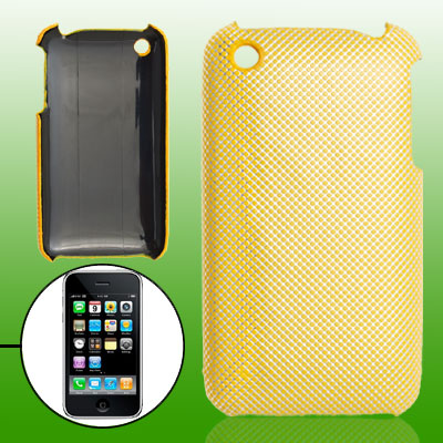 Yellow Textured Plastic Back Case for Apple iPhone 3G