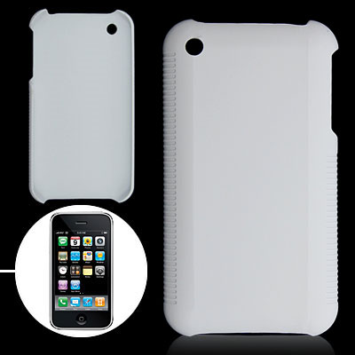 White Hard Plastic Case for Apple iPhone 3G
