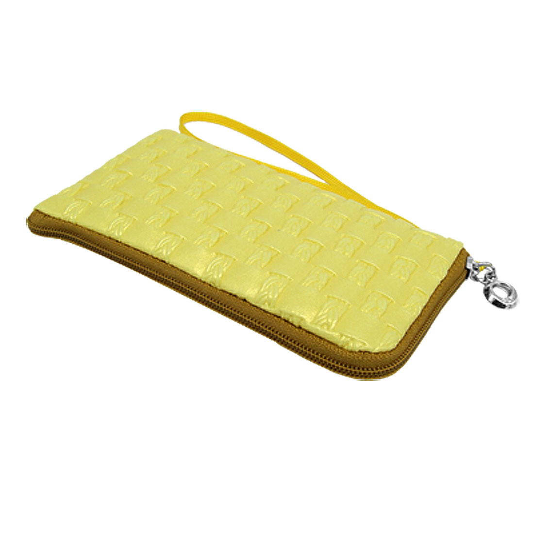 Yellow Purse Holder Bag with Hand Strap for Cell Phone