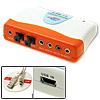 External USB 7.1 Sound Audio Box Card Adapter Orange