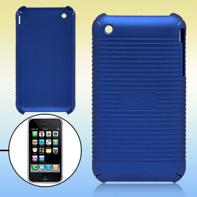 Parallel Textured Stripes Blue Plastic Case for iPhone 3G