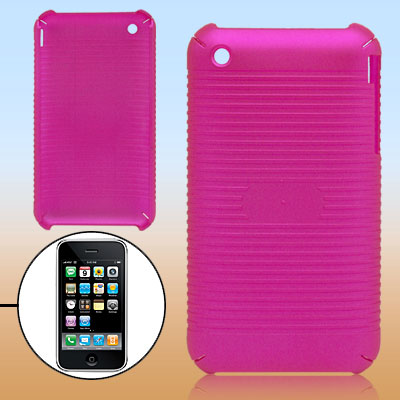 Parallel Textured Stripes Hot Pink Plastic Case for Apple iPhone 3G
