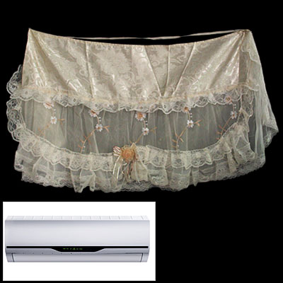Embroidered Flower Lace Indoor Air-Conditioner Cover
