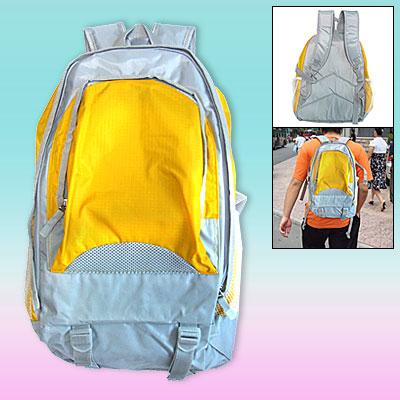 Adventurer Travel Leisure Backpack Campus Double Shoulder Pack Knapsack Yellow