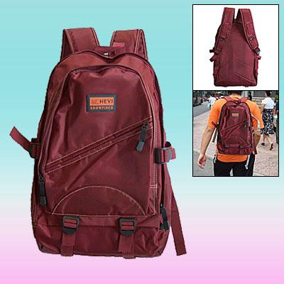Leisure Travel Backpack Campus Double Shoulder Pack Knapsack Scarlet