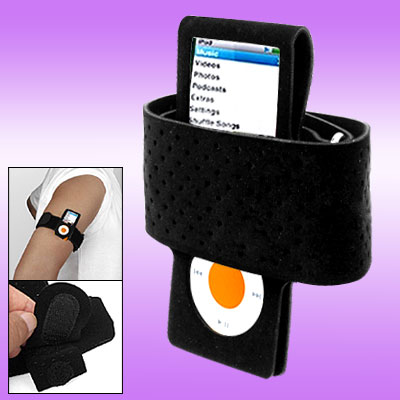 Black Sports Armband for iPod Nano Chromatic 4th Generation