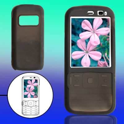 Black Form-fitted Soft Silcone Cover for Nokia N79