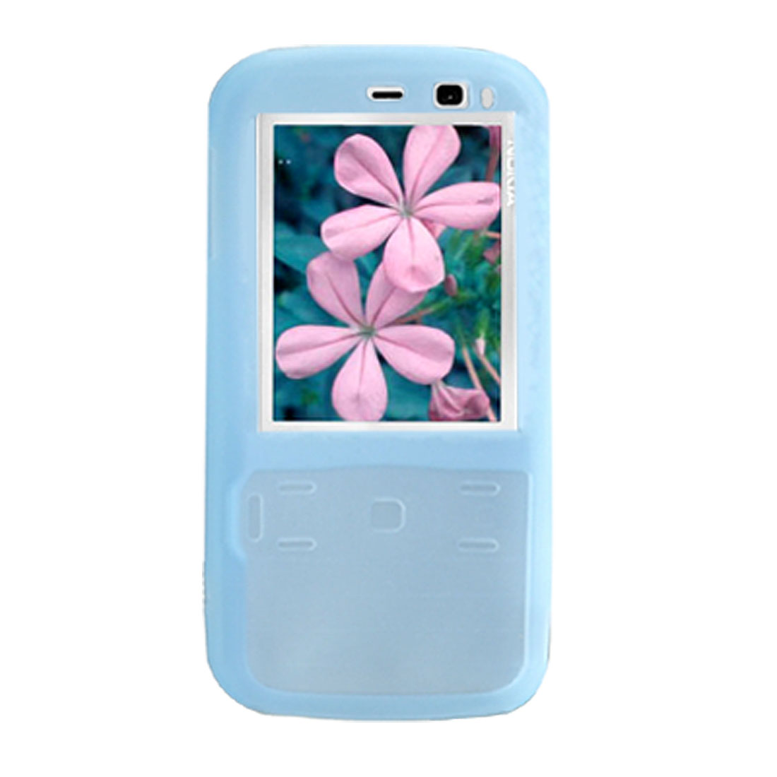 Smooth Silicone Skin Case Protector for Nokia N79 Light Blue