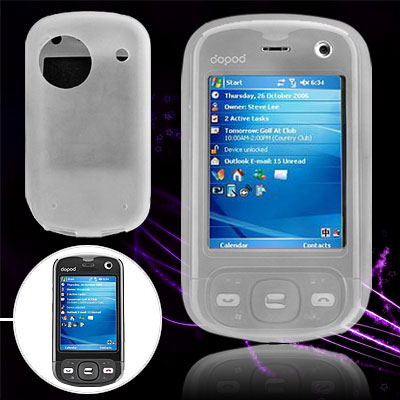 Clear White Silicone Case for Dopod D810 / Dopod HTC 9100