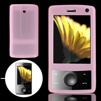 Pink Silicone Skin Mobile Phone Case for Dopod HTC P3702