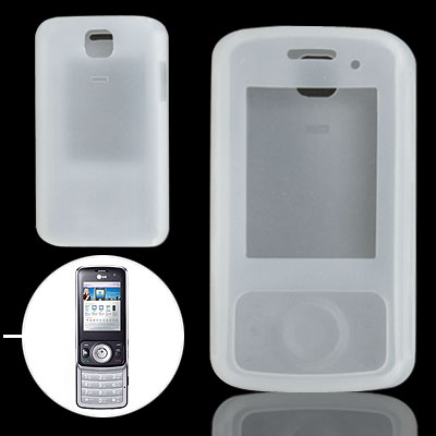 Clear White Silicone Case for LG KT520