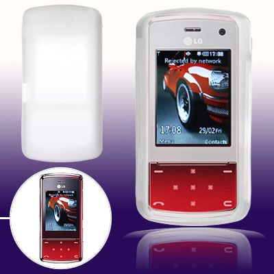 Clear White Silicone Skin for LG KF510
